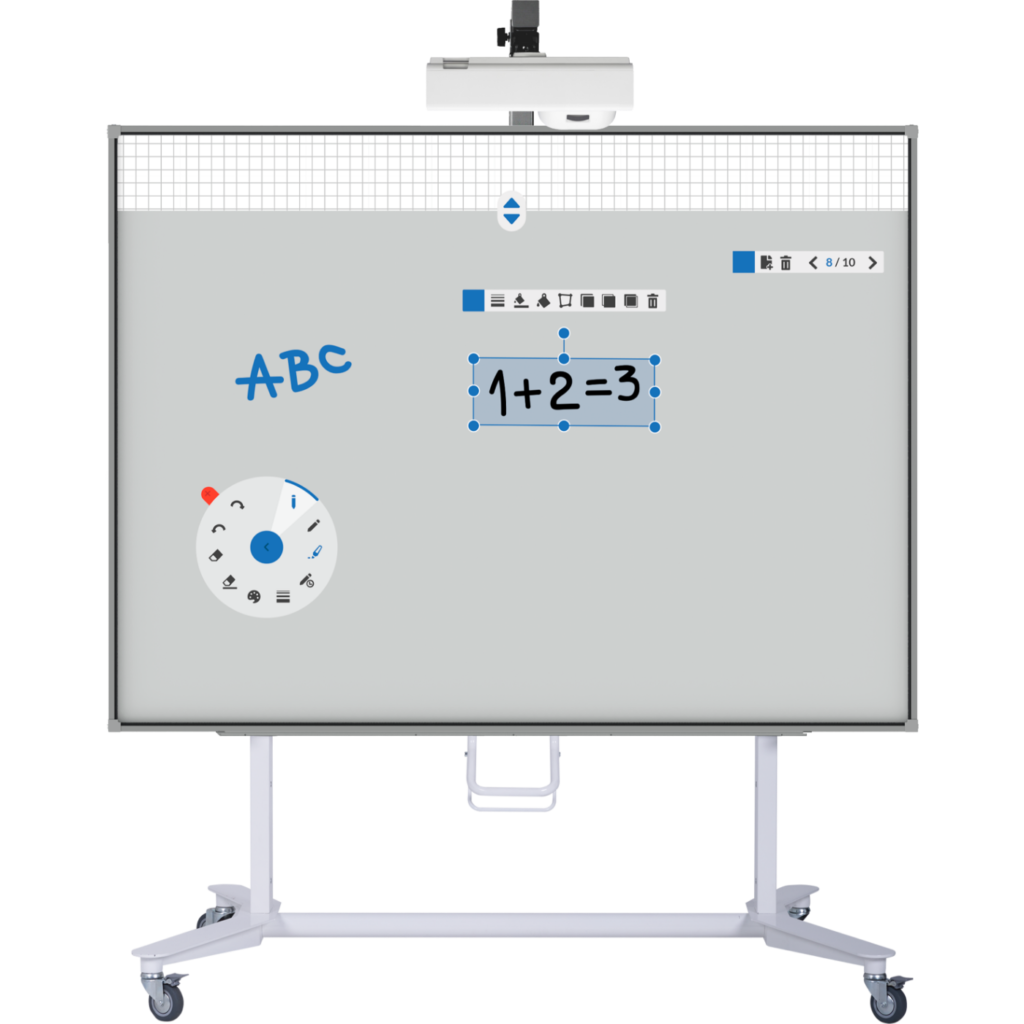 Bi-Bright, interactive whiteboard, projector, stand, getOne i3